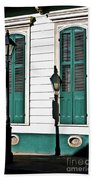 Turquoise Shutters Beach Towel
