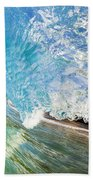 Turquoise Wave Tube Beach Towel