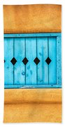 Turquoise Window Shutter Beach Towel