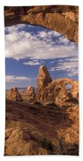 Turret Arch And North Window Beach Towel