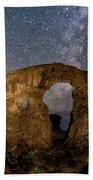 Turret Arch Milkyway, Arches National Park, Utah Beach Towel