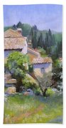 Tuscan  Hilltop Village Beach Towel