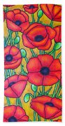 Tuscan Poppies - Crop 1 Beach Towel