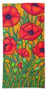 Tuscan Poppies - Crop 2 Beach Towel