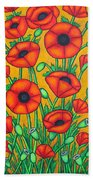 Tuscan Poppies Beach Towel