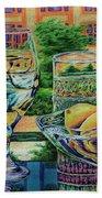 Tuscan Summer Lemonade  Beach Towel