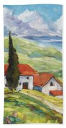 Tuscan Villas Beach Towel