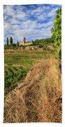 Tuscan Vineyard And Grapes Beach Towel