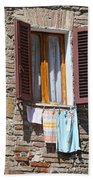 Tuscan Window And Laundry Beach Towel