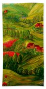 Tuscany At Dawn Beach Towel by Eloise Schneider