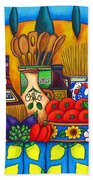 Tuscany Delights Beach Towel