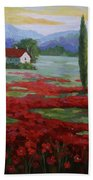 Tuscany Fields Beach Towel