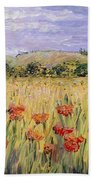 Tuscany Poppies Beach Towel