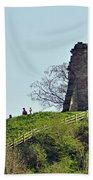 Tutbury Castle Ruins Beach Towel