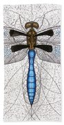 Twelve Spotted Skimmer Beach Towel by Charles Harden