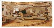 Twenty-seven Pound Cannon On A Battleship Beach Towel