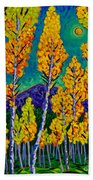 Twilight Aspens Beach Towel