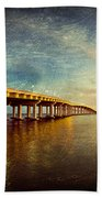 Twilight Biloxi Bridge Beach Towel