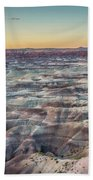 Twilight Over The Painted Desert Beach Towel