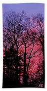 Twilight Trees Beach Towel