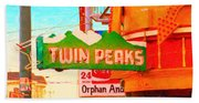 Twin Peaks Gay Bar In San Francisco . Painterly Style Beach Sheet