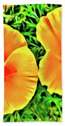 Twin Poppies Beach Towel