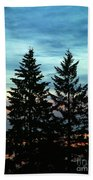 Twin Trees Beach Towel