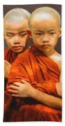 Twins In Orange Beach Sheet