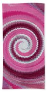 Twirl Pink  Beach Towel