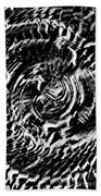 Twisted Gears Abstract Beach Towel