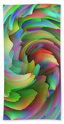 Twisted Rainbow 2 Beach Towel