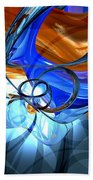 Twisted Spiral Abstract Beach Towel