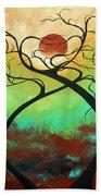 Twisting Love II Original Painting By Madart Beach Towel