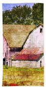 Two Barns And A Silo Beach Towel