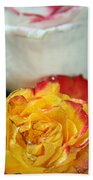 Two Beautiful Roses Beach Towel