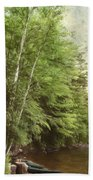 Two Birches Beach Towel