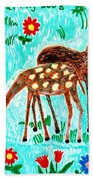 Two Deer Beach Towel