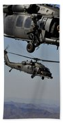 Two Hh-60 Pave Hawk Helicopters Prepare Beach Towel