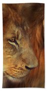 Two Lions Beach Towel