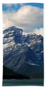 Two Medicine Lake And Rising Wolf Mountain Beach Towel