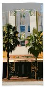 Two Palms Art Deco Building Beach Towel
