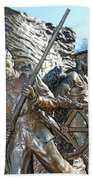 Two Soldiers Of The The African American Civil War Memorial -- The Spirit Of Freedom Beach Towel