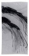 Two Studies Of A Bird Of Paradise 1630 Beach Towel