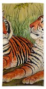 Two Tigers Beach Towel