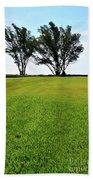 Two Trees On Meadow 15304 Beach Towel