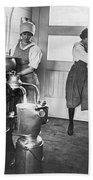Two Women Making Butter Beach Towel