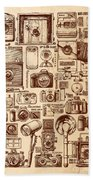 Types Of Photo Cameras Beach Towel