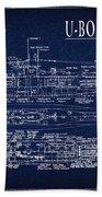 U-boat Submarine Plan Beach Towel