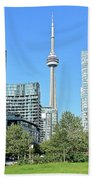 Toronto Towers From The Park Beach Towel