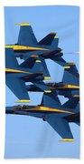 U S Navy Blue Angeles, Formation Flying Beach Towel